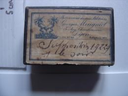 Ancienne Boite MEDICAMENT Suppositoires Pharmacie MEUGNIOT Deux Palmiers DIJON - Boîtes