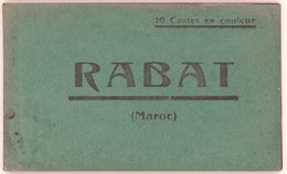 RABAT MAROC  Carnet De CP En Couleur, Manque 1 Sur 10 - Rabat