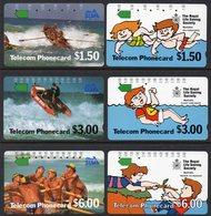 AUSTRALIA, 1989 LIFESAVING SET OF 6 CARDS USED - Australie