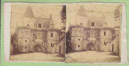 BONNEVAL Vers 1860 : Entrée Principale De L'Abbaye ( Avant Restauration ). Photo Stéréoscopique. 2 Scans. - Photos Stéréoscopiques