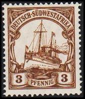 1906 - 1919. DEUTSCH-SÜDWESTAFRIKA 3 Pf. Kaiserjacht SMS Hohenzollern. (Michel 24) - JF307901 - Colony: German South West Africa