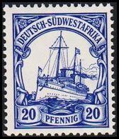 1906 - 1919. DEUTSCH-SÜDWESTAFRIKA 20 Pf. Kaiserjacht SMS Hohenzollern. (Michel 27) - JF307904 - Kolonie: Deutsch-Südwestafrika
