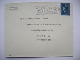 Netherlands Cover 1938 GRAVENHAGE To Wien Vienna Austria, Flamme Goedkoope Brief-Telegrammen, Wilhelmina 12 1/2 C. - Periode 1891-1948 (Wilhelmina)