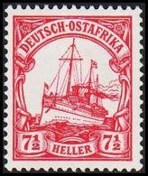 1905. DEUTSCH-OSTAFRIKA 7½ HELLER Kaiserjacht SMS Hohenzollern. (Michel 24) - JF307937 - Colonia: Africa Oriental