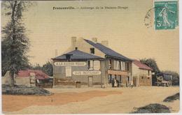 Cpa Colorisée Toilée B39 FRANCONVILLE AUBERGE DE LA MAISON ROUGE Animée-attelage Belle Carte - Franconville