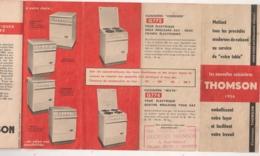 PUB THOMSON CUISINIERE A GAZ / CUISINIERE ELECTRIQUE    B745 - Pubblicitari