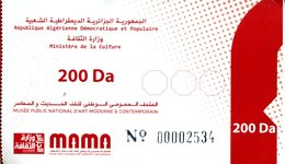 Musée National D'Art Moderne Et Contemporain (Alger -Algérie) - Tickets D'entrée