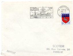 CALVADOS - Dépt N° 14 = HONFLEUR 1968 = FLAMME Codée = SECAP  Illustrée ' 20 ème Salon Des Artistes Honfleurais ' - Marcophilie (Lettres)