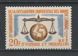SPM MIQUELON 1963  N° 370 ** Neuf MNH Superbe C 8,10 € Droits De L'Homme Déclaration Universelle - Neufs