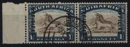 Südafrika Dienst 34/35 Waagerechtes Paar Zweisprachig 6 P Orangenbaum Gestempelt - Afrique Du Sud (...-1961)