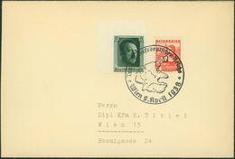Deutsches Reich Brief 2 Länder-MIF Wien Österreich 1938 Mit U.a. Blockmarke - Briefe U. Dokumente