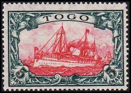 1909 - 1919. TOGO 5 MARK Kaiserjacht SMS Hohenzollern. 25:17.  (Michel 23 II B) - JF307719 - Colonia: Togo