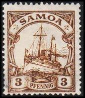 1915 - 1919. SAMOA 5 MARK Kaiserjacht SMS Hohenzollern. Thin. (Michel 20) - JF307738 - Colony: Samoa