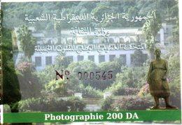 Musée Des Beaux-Arts ( Alger- Algérie) -  Droits Photographiques - Tickets D'entrée