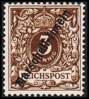1897 - 1898. Marschall-Inseln 3 Pf. REICHSPOST. Sign BOTHE BPP.  (Michel 1 II) - JF307743 - Colonie: Marshall