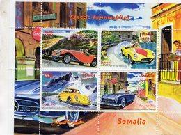 Somalia  -  Classique  Automobiles - MG - Ferrari - Porsche - Mercedes  -  4v Feuillet Neuf/Mint/MNH - Autos
