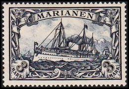 1901. MARIANEN 3 MARK Kaiserjacht SMS Hohenzollern. (Michel 18) - JF307791 - Kolonie: Marianen