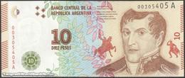 TWN - ARGENTINA 360 - 10 Pesos 2016 Serie A - Signatures: Vanoli & Dominguez UNC - Argentine