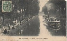 02  SAINT-QUENTIN  Le Canal - Concours De Pêche - Saint Quentin