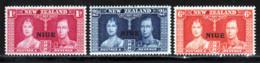 Niue 1937 Yvert 59 / 61 ** TB - Niue