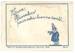 Pochette Et 12 Feuilles / Buvards Thème Santé, Docteur, édités Par Les Laboratoires Lescène, Signés Duché - Buvards, Protège-cahiers Illustrés