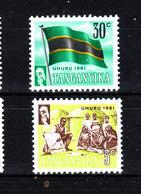 Tanganika  -  1961. Istruzione E Bandiera Del Tanganika. Education And Flag Of Tanganika.. MNH - Francobolli