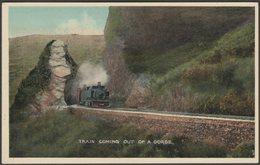 Train Coming Out Of A Gorge, Ambala-Attari Line, C.1920 - Moorli Dhur Postcard - India
