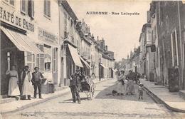 """¤¤  -  AUXONNE    -   Rue Lafayette   -  Café De Paris  -  Boulangerie """" LEGUNPP """"      -  ¤¤ - Auxonne"""