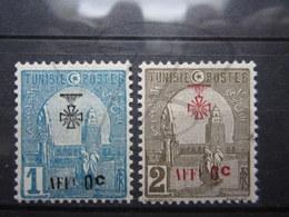 VEND BEAUX TIMBRES DE TUNISIE N° 79 + 80 , XX !!! - Tunisie (1888-1955)