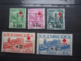 VEND BEAUX TIMBRES DE TUNISIE N° 305 - 309 , X !!! - Tunisie (1888-1955)
