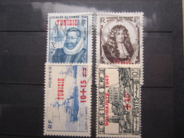 VEND BEAUX TIMBRES DE TUNISIE N° 310 - 313 , X !!! - Tunisie (1888-1955)