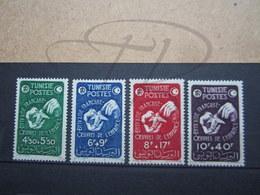 VEND BEAUX TIMBRES DE TUNISIE N° 320 - 323 , X !!! - Tunisie (1888-1955)