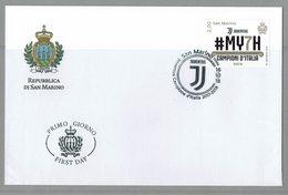 FDC SAN MARINO FUTBOL JUVENTUS - CHAMPION D'ITALIE 2018 - Equipos Famosos