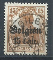 Occ 15c Ocre Obl Relais * BERGILERS */1917 - Marcophilie