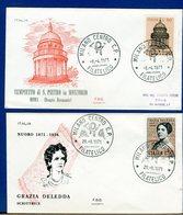 ITALIA - FDC 1971 - GRAZIE DELEDDA - TEMPIETTO BRAMANTE - 6. 1946-.. Repubblica