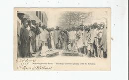 BATHURST (BANJUL) GAMBIA RIVER MANDINGO MUSICIANS PLAYING WITH THE BALLAFONG 1908 - Gambia