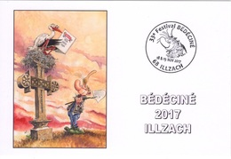 BEDECINE 2017 ILZACH & Marc HARDY : Carte FDC Du 33ème Festival D'Illzach Pierre Tombale - Comics
