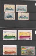 CORÉE DU NORD Bateaux Années 1964-1983/84 N°Y/T :497/700-1764** Et 1781E**  C^te : 19,00 € - Corée Du Nord