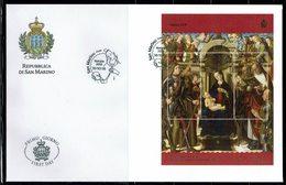 FDC SAN MARINO NATALE NOEL, GIOVANNI SANTI Peintre 2018 FACIAL 4,80€ - Religión