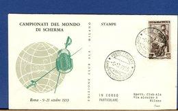 ITALIA - ROMA - CAMPIONATI DEL MONDO DI SCHERMA - ESCRIME - 1955 - Scherma
