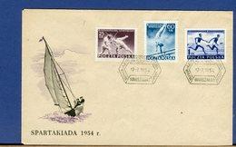 POLONIA - POLSKA - FDC 1954 - SPARTAKIADA - SPARTACHIADE 1954 - Athletics