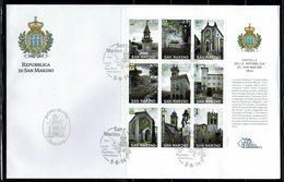 FDC SAN MARINO CHATEAUX DE SAN MARINO 2014 FACIAL 6.30 € - Castillos