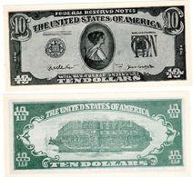 ETATS UNIS D'AMERIQUE USA Billet SCOLAIRE 10 DOLLARS NO DATE SANS VALEUR NEUF UNC - Etats-Unis