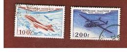 FRANCIA (FRANCE) -   SG 1194.1195  -    1954  AIRPLANES - USED - France