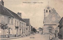 """¤¤  -   EPAUX    -   L'Eglise Et La Place   -   Boulanger """" JOURDAIN - GALLAND """"     -  ¤¤ - Autres Communes"""