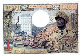 AFRIQUE BANQUE CENTRALE BOKASSA Billet 10000 FRANCS SPECIMEN RARE TRES BON FACSIMILé REPRODUCTION - Centrafricaine (République)