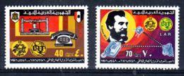 10.3.1976; Centenaire Du Téléphone, YT 566 + 567; Neuf **, Lot 50646 - Libye