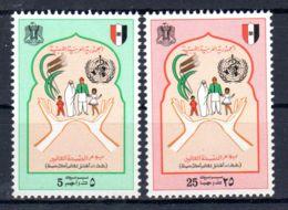 7.4.1974; Weltgesundheitstag, Mi-Nr. 453 + 454 **/ MNH, Los 50636 - Libyen