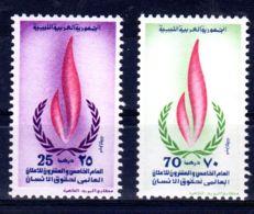 20.12.1973; Déclaration Universelle Droits Des Hommes, YT 488 + 489; Neuf **, Lot 50632 - Libye