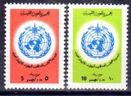 1.8.1973; Météorologique Mondiale; YT 498 + 499; Neuf **, Lot 50628 - Libye